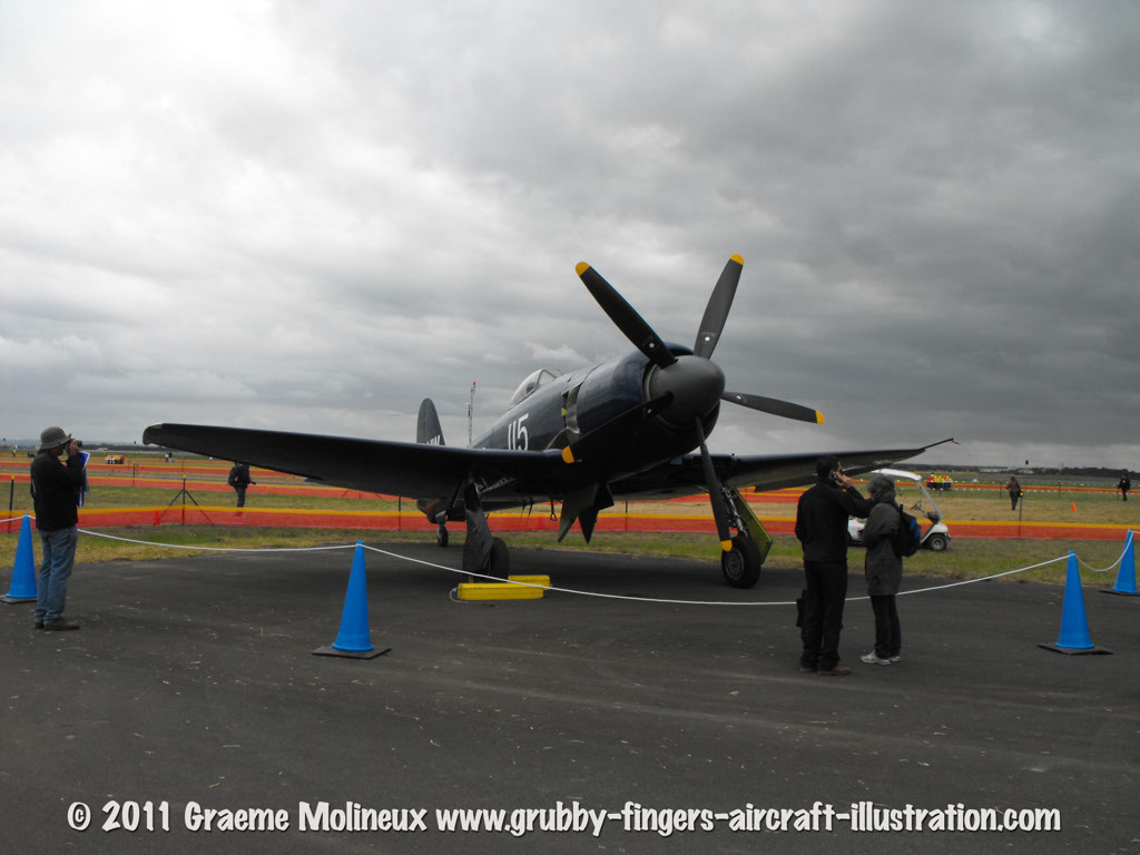 Hawker Fury Sea Fury Walkaround Vh Orn Avalon on Sea Fury Sleeve Valve Engine